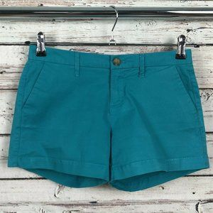 Old Navy Endless Summer Teal Casual Cotton Shorts